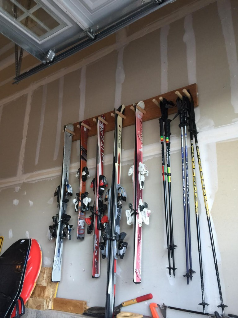 How To Build A Wall Ski Rack