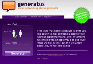 generatus - random status generator