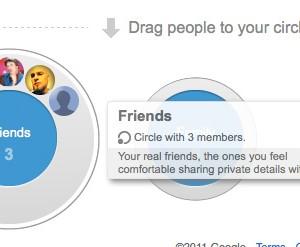 Google+ Circles Hover