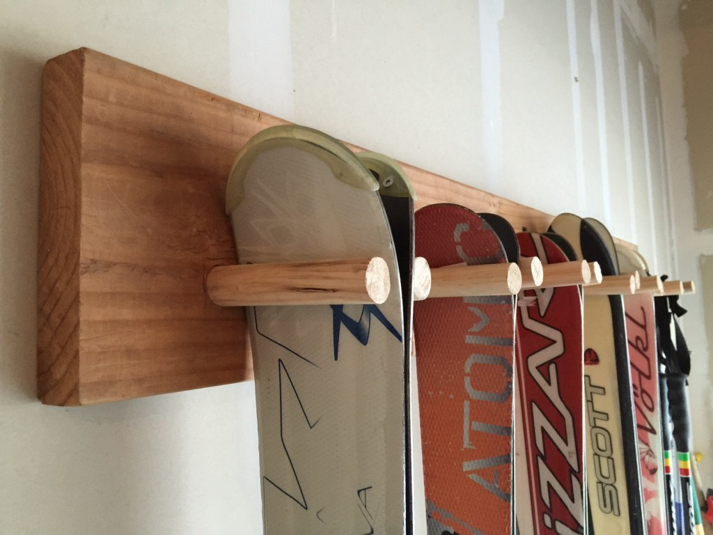 Build A Super Cheap 10 Dollar Hanging Ski Rack