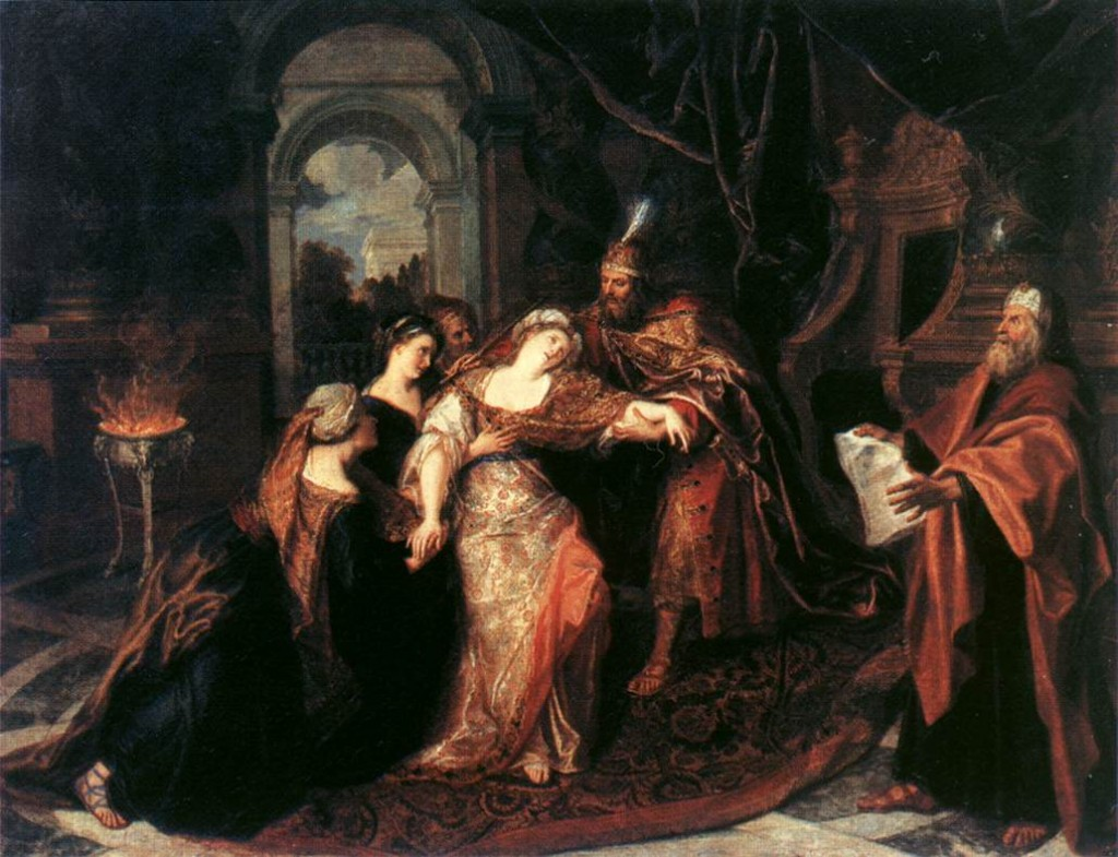 The Swooning of Esther by Rembrandt