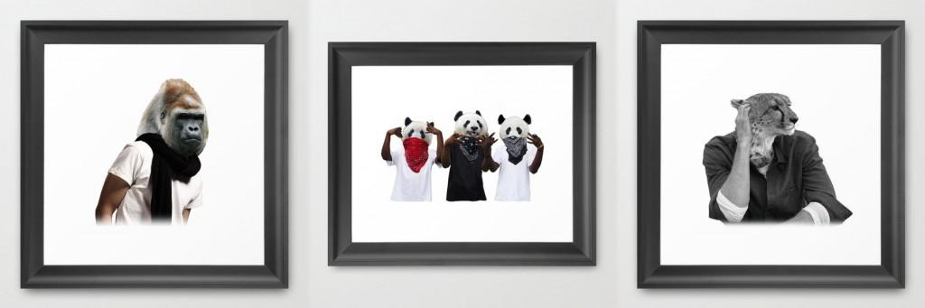 model-animal-framed
