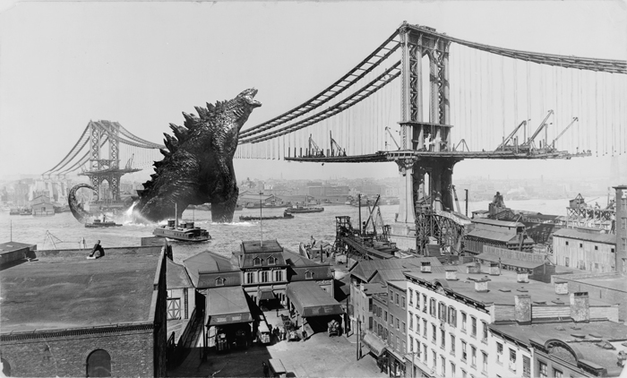 Manhattan-bridge-godzilla